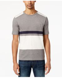 Sean John - Gray Men's Pieced Colorblocked T-shirt for Men - Lyst