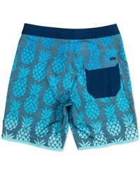 Rip Curl Blue Mirage Printed Swim Trunks for men