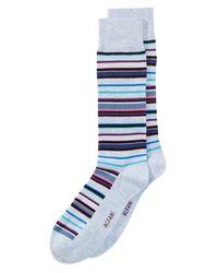 Alfani - Blue Striped Socks, Created For Macy's for Men - Lyst