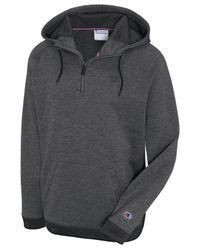 Champion Gray Quarter-zip Hoodie for men