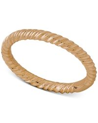 Macy's - Metallic Twist-style Ring Band In 18k Gold - Lyst