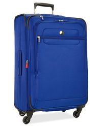 "Delsey - Blue Helium Fusion 25"" Expandable Spinner Suitcase for Men - Lyst"