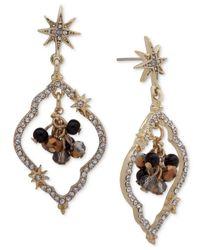 Lonna & Lilly - Metallic Gold-tone Pavé Shaky Orbital Drop Earrings - Lyst