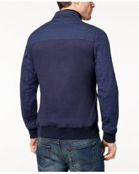 Vince Camuto - Blue Men's Bomber Jacket for Men - Lyst