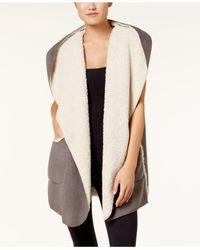 Hue Multicolor Sleeveless Fleece-lined Hooded Robe