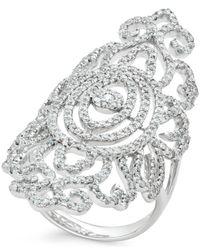 Macy's - Diamond Ring (1-5/8 Ct. T.w.) In 14k White Gold - Lyst