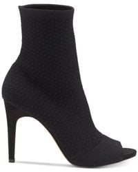 INC International Concepts - Black Women's Rielee Sock Ankle Booties - Lyst
