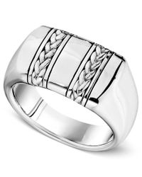 Macy's - Multicolor Men's Sterling Silver Ring, Braided Band for Men - Lyst