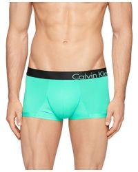 Calvin Klein Green Men's Underwear, Bold Micro Low Rise Trunk U8908 for men