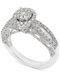 Macy's - Metallic Diamond Pavé Engagement Ring (1 Ct. T.w.) In 14k White Gold - Lyst