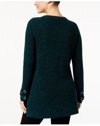 Style & Co. - Black Petite Lace-up Sweater - Lyst