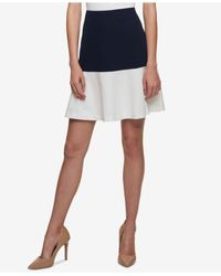 Tommy Hilfiger - Multicolor Colorblocked Swing Skirt - Lyst