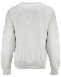 Champion Gray Reverse Weave Crew Sweatshirt for men