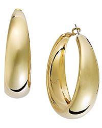 INC International Concepts | Metallic Gold-tone Wide Hoop Earrings | Lyst