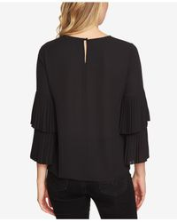 1.STATE - Black Tiered-sleeve Top - Lyst