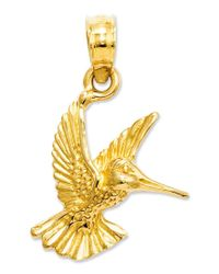 Macy's | Metallic 14k Gold Charm, Hummingbird Charm | Lyst