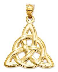 Macy's - Metallic 14k Gold Charm, Polished Trinity Charm - Lyst