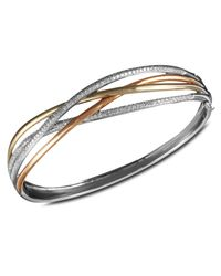 Effy Collection | Metallic Diamond Crossover Bangle (1 Ct. T.w.) In 14k White Gold, 14k Gold And 14k Rose Gold | Lyst