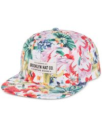 Woolrich Pink Brooklyn Hat Co. Tres Flores Printed Cap for men