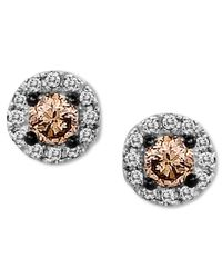 Le Vian | Pink Chocolate Diamond (1/4 Ct. T.w.) And White Diamond Accent Stud Earrings In 14k White Gold | Lyst