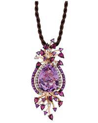 Le Vian - Purple Multistone Cord Pendant In 14k Rose Gold - Lyst