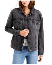 Style & Co. Black Denim Trucker Jacket, Created For Macy