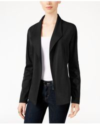 Style & Co. - Black Open-front Long-sleeve Blazer - Lyst