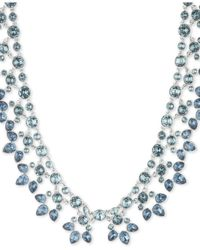 """Givenchy Metallic Crystal & Stone 16"""" Statement Necklace"""