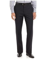 CALVIN KLEIN 205W39NYC Blue Pants Navy Stripe 100% Wool Modern Fit for men