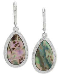 Nine West - Multicolor Silver-tone Colored Stone Drop Earrings - Lyst