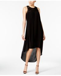 Cable & Gauge - Black High-low Shift Dress - Lyst