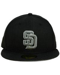 KTZ - San Diego Padres Black Graphite 59fifty Cap for Men - Lyst
