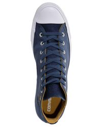 Converse Blue Chuck Taylor All Star High Top Casual Sneakers From Finish Line for men