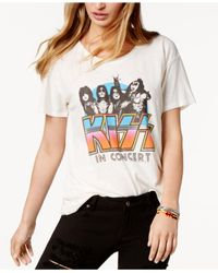 Junk Food - White Cotton Kiss In Concert Graphic T-shirt - Lyst