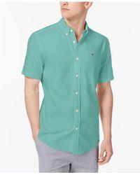 Tommy Hilfiger - Green Oxford Shirt for Men - Lyst