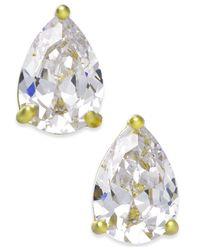 Kate Spade - Metallic Gold-tone Colored Stone Teardrop Stud Earrings - Lyst