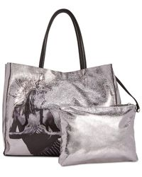 Betsey Johnson - Metallic In A Flash Shopper Tote With Pouch - Lyst