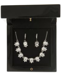Givenchy - Metallic Crystal Collar Necklace & Drop Earrings Set - Lyst