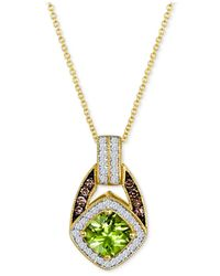 Le Vian - Yellow Peridot (7/8 Ct. T.w.) And Diamond (1/4 Ct. T.w.) Pendant Necklace In 14k Gold - Lyst