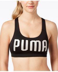 PUMA - Black Pwrshape Forever Drycell Medium-support Sports Bra - Lyst
