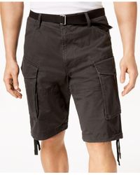 G-Star RAW Black Cargo Shorts, Created For Macy's for men