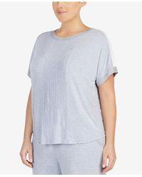 DKNY - Multicolor Plus Size Contrast-trim Pajama Top - Lyst