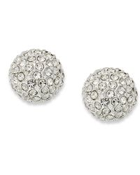Charter Club | Metallic Silver-tone Fireball Stud Earrings | Lyst
