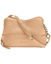 CALVIN KLEIN 205W39NYC - Natural Marie Leather Crossbody - Lyst