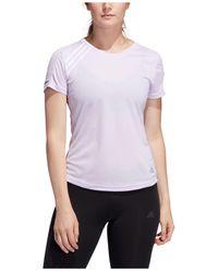 Adidas Purple Run It Aeroready T-shirt