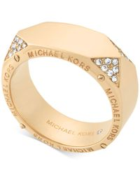 Michael Kors | Metallic Gold-tone Stainless Steel Wide Ring | Lyst