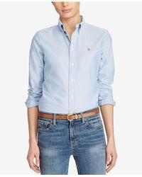 Polo Ralph Lauren Blue Long-sleeve Oxford Shirt