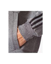 Adidas Gray Essentials 3-stripes Track Jacket for men