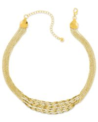 2028 | Metallic Necklace, Gold-tone Twisted Multi-chain Strand Necklace | Lyst