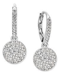 Danori - Metallic Silver-tone Pavé Dome Drop Earrings - Lyst